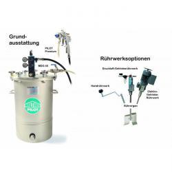 Sprutsystem - med materialtrycktank 45 l – förzinkat stål