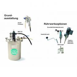 Sprutsystem - med materialtrycktank 12 l – rostfritt stål