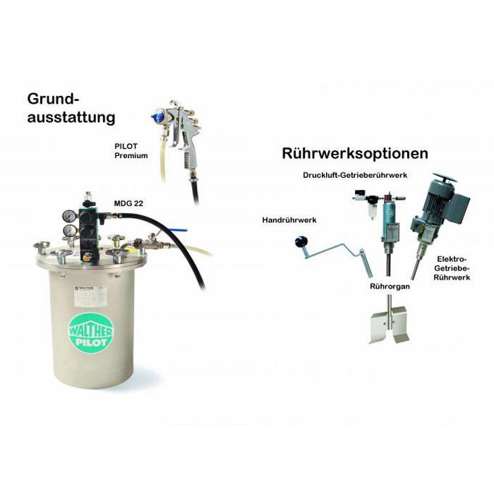 Spritzsystem - Materialdruckbehälter 12 L - Edelstahl