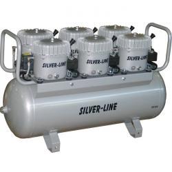 Quiet Running Kompressor - L-S300-100 - 300 l / min. Suge - Silver