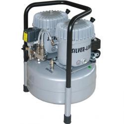 Quiet Running Kompressor - L-S100-25 - Suge: 100 l / min. - Silver