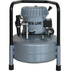 Quiet Running Kompressor - L-S50-25 - 50 l / min. Suge - Silver