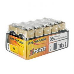 "Alkaliska batterier - E-Block - ""X-Power"" - 9V - 10-pack"