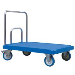 Pushbar trolley - rust-proof - with aluminum bracket