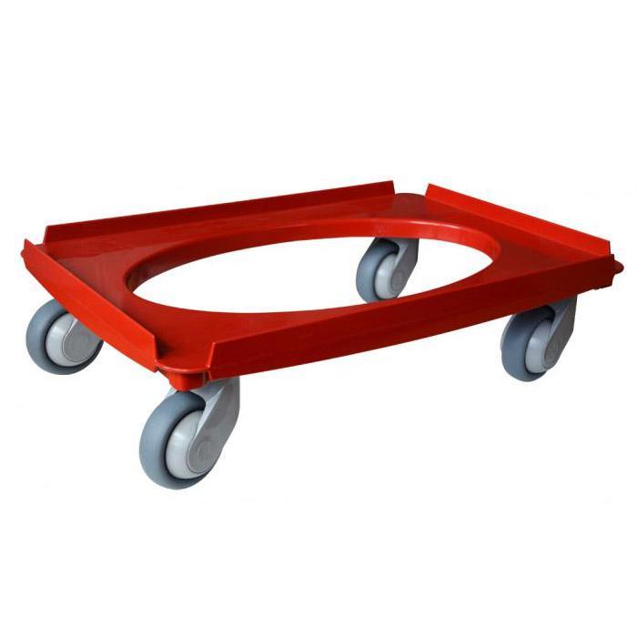 Transport roller - universal - plastic - load up to 250 kg