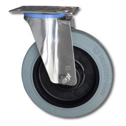 Länkhjul - fälg plast - hjulbana gummi - hjul-Ø 200 mm - till 350 kg