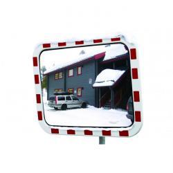 Verkehrsspiegel - Polycarbonat - mit Heizung - 80 x 100 cm