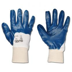 "Working gloves ""Guide 804,"" Standard EN 388/Class 4111 - cotton-jersey with nitrile"