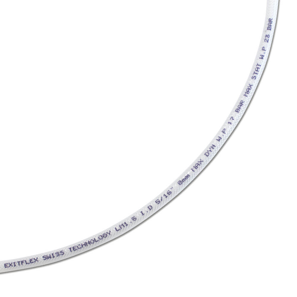 Lågtrycksslang - PA-innerslang - 15 bar - transparent - metervara