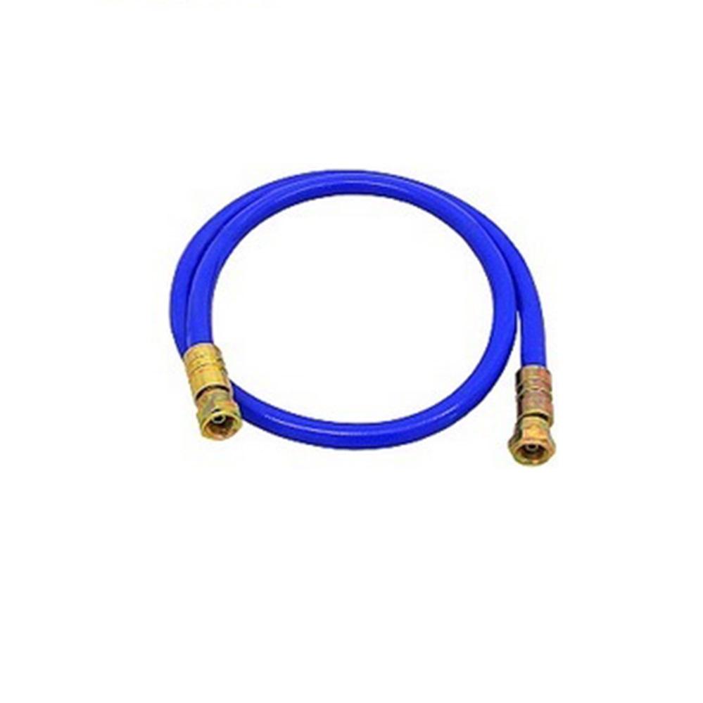 HD-Farbspritzschlauch - blau - Innen-Ø 4,6 mm - Außen-Ø 10,2 mm - Stahl/Edelstahl - Preis per Stück