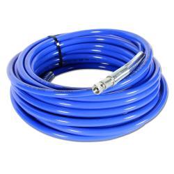 HD-Farbspritzschlauch - blau - Anschlüsse 3/8″ Stahl chrom. - Innen-Ø 9,6 mm - Außen-Ø 17,1 mm - 300 bar - Preis per Stück
