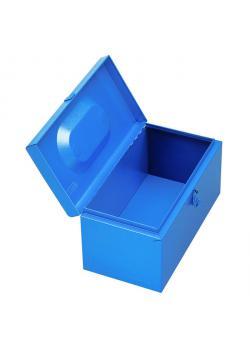 Werkzeugkoffer - JUMBO - Stahlblech - blau lackiert - 230x450x230 mm