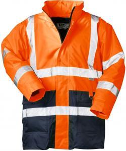 "Parka ad alta visibilità 2 in 1 ""Alexander"" - 100% PES - colore arancione"