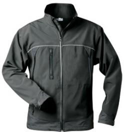 "Soft shell jacket ""Alpha"" - 100% Polyester - black"
