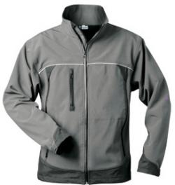 "Soft shell jacket ""BETA"" - 100% Polyester - black/gray"