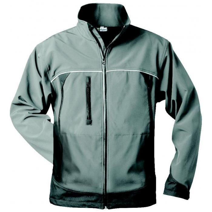 "Softshelljacka ""BETA"" - 100% polyester - grå/svart"
