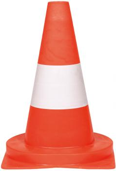 Cône de signalisation - PVC rouge/blanc non réfléchissant hauteur du cône 32 cm