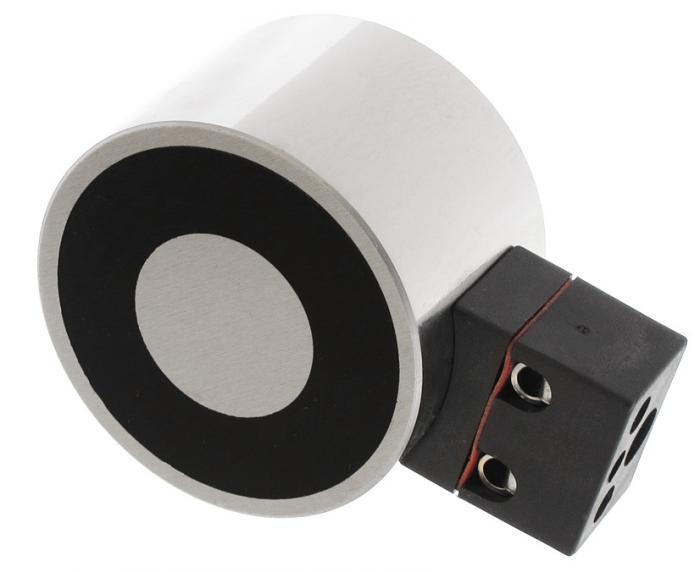 Elektro Haltmagnet - mit Anschlussblock - vernickelt