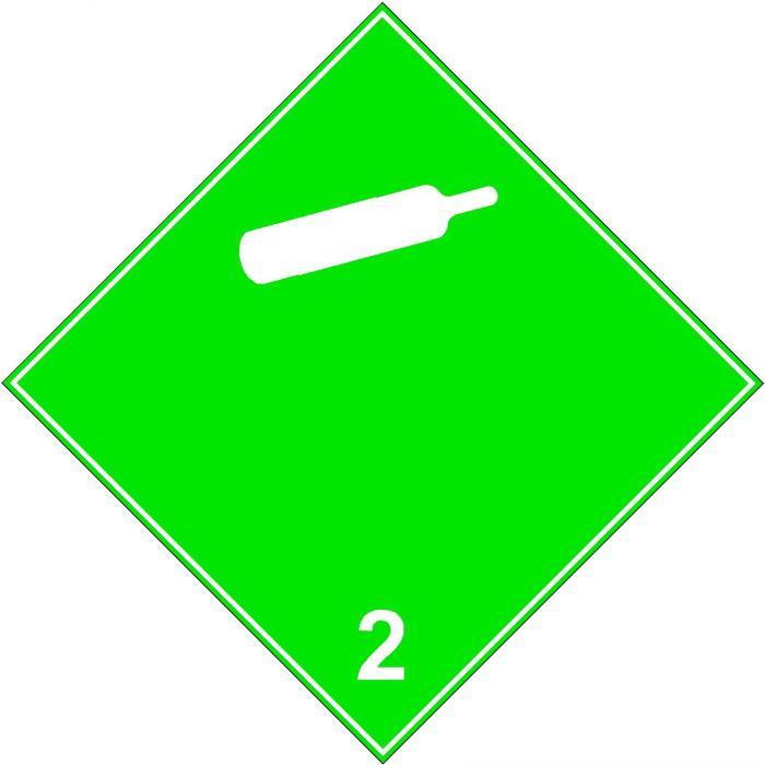 """Gefahrgutzeichen """"Nicht entzündbare, nicht giftige Gase 2.2"""""""