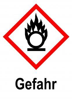 """GHS skylt - """"Antändbara ämnen"""" - varningsord """"Fara"""""""