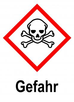 "GHS skylt ""Akut toxicitet"" - varningsord ""fara"""