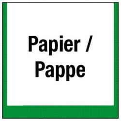 """Miljömärkning """"behållare för papper / kartong"""""""