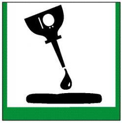 """Miljöskylt """"olja"""" - sidolängd 5-40 cm"""