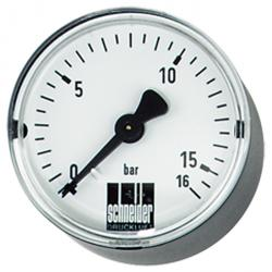 """Schneider"" manometer - diameter 40 to 80 mm - measuring range 0 to 25 bar - connection G 1/8 and G 1/4"