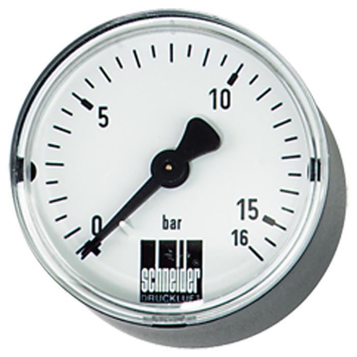 """Manometro """"Schneider"""" - diametro da 40 a 80 mm - campo di misura da 0 a 25 bar - attacco G 1/8 e G 1/4"""