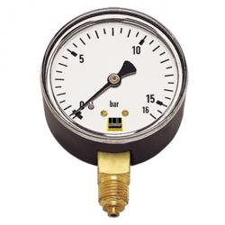 Pressure gauge - vertical 40 mm to 100 mm measuring range 0 to 25bar