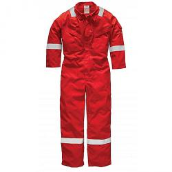"Dickies Overall ""Firechief"" - 220 g/m² - EN ISO 11612: 2008 (A1 B1 C1) - Größe 60 - rot"