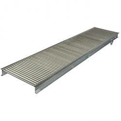 Liten rulletransportør - stålstøtteruller - rett utførelse - rulle Ø 20 eller 30 mm - lastekapasitet opp til 15 kg