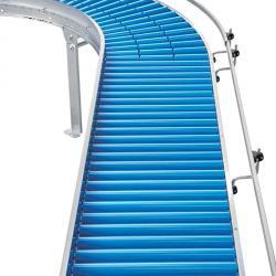 Lys Roller Conveyor - plastbæreruller - Kapasitet opp til 25 kg - Roller Ø 50 mm