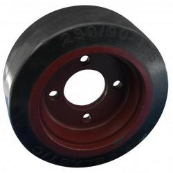 "Forklift driving - ""Linde"" - painted cast iron center - 0039902310 - Wheel diameter 230 mm"