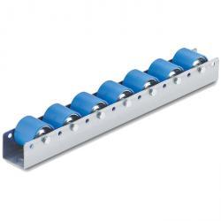 Colli Rollschiene - Tragkraft 40 kg - Stahlrolle mit Kunststoffmantel blau - Kugellager