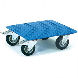 Roll platform - checker plate - carrying capacity 400 kg - blue