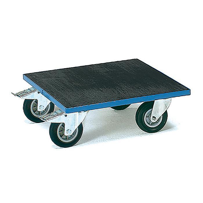 piattaforma Roll - 400 kg - con piattaforma di legno con gomma scanalata