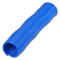 PA spiral hose - blue - radial outlet - inside Ø 3 to 12 mm - price per piece