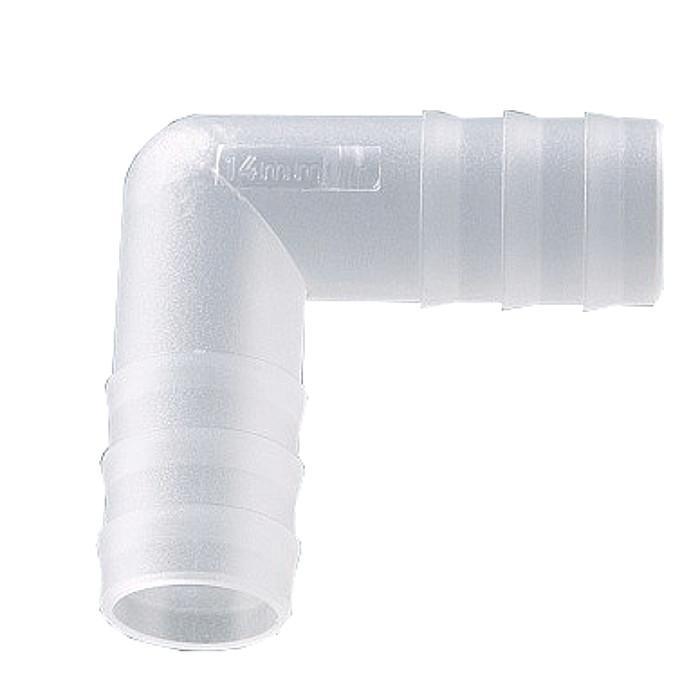 Winkel Schlauchverbinder - PP - für Ø 3 bis 15 mm - bis +135°C - VE 10 Stück - Preis per VE