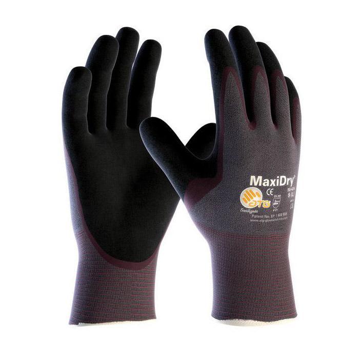 MaxiDry® - Nitril-Handschuhe - handflächenbeschichtet - Preis per Paar
