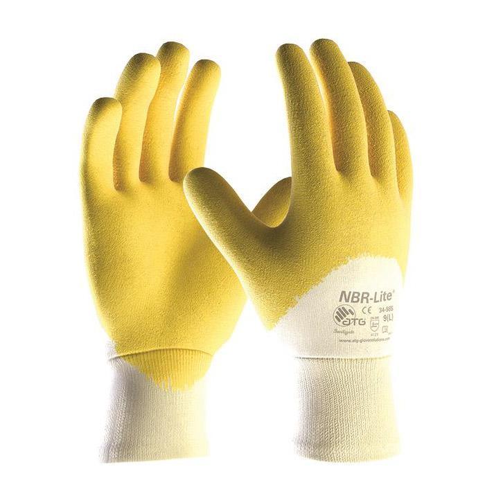NBR-Lite® - Nitril-Handschuhe - Strickbund - Preis per Paar