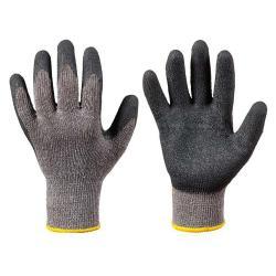 """Arbeitshandschuh """"Eco Grip"""" - STRONGHAND® - Mittelstrick Mischgewebe - EN 388 - grau/schwarz - Größe 9"""