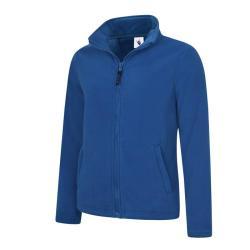 Restposten - Damen Classic Fleece Jacke - mit Reißverschluss - 100% Polyester - 380 g/m² - königsblau - Größe XL