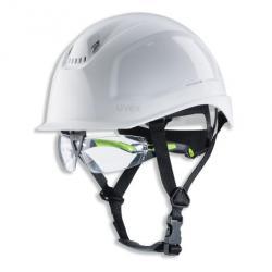Förderfähiger Schutzhelm uvex pheos S-KR IES - mit kurzem Schirm - Vollsichtbrillenhalter und IES