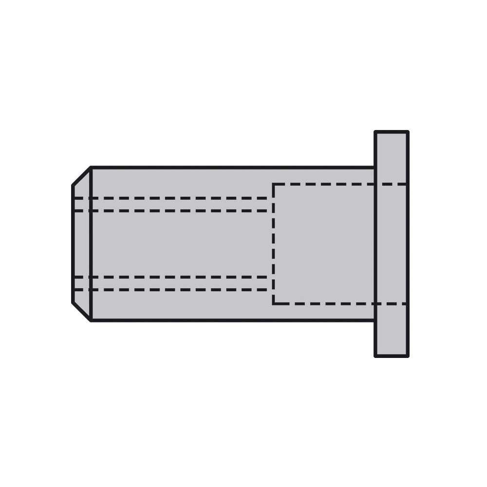 CAP® Blindnietmuttern GESIPA® - Alu - Standard Flachrundkopf - geschlossen - Preis per VE