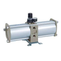 "Druckverstärker - Serie VBA - Typ VBA40A-F04GN - G 1/2"" - Manometer und Schalldämpfer"