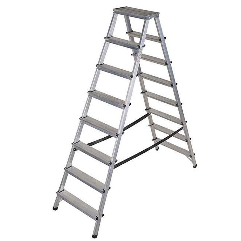 Dubbelstegsstege - aluminium - 2x3 till 2x8 steg