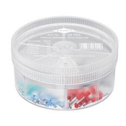 Knipex Aderendhülsen-Sortimentbox - isoliert - Kabel 0,25 bis 1 mm² - 150 Stück