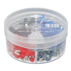 Knipex Zwillings-Aderendhülsen-Sortimentbox - isoliert - Kabel 0,75 bis 2,5 mm² - 200 Stück
