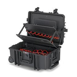 """Werkzeugkoffer """"Robust45 Move"""" Elektro - leer - bis 35 kg - schlagfest - mit integrierten Rollen und Teleskopgriff"""